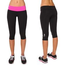 Running pants 3/4 compression tights capri leggings, Blockout ...